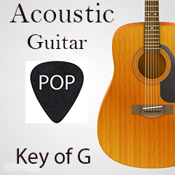 Acoustic guitar and bass loops in G