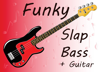 Funky slap bass loops with matching guitar loops