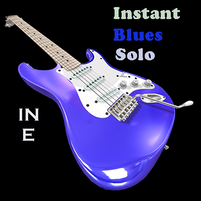 Instant Blues Solo in E lead guitar loops