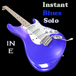 Instant blues solo in E guitar loops