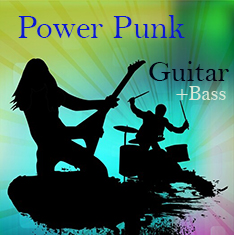Power punk guitar loop and bass loop library.